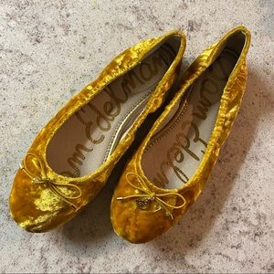SAM EDELMAN velvet marigold felicia flats SIZE 7.5